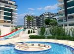 modern new apartments for sale in kargicak, alanya, wohnungen zu verkaufen in alanya (9) - Kopya