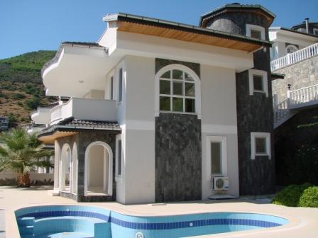 Exclusieve Villa met Prachtig Uitzicht op de Zee en Alanya
