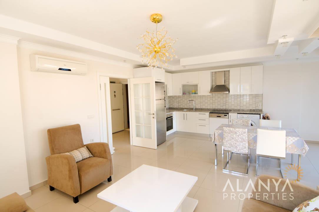appartement meubl de 2 chambres coucher vendre alanya kestel. Black Bedroom Furniture Sets. Home Design Ideas