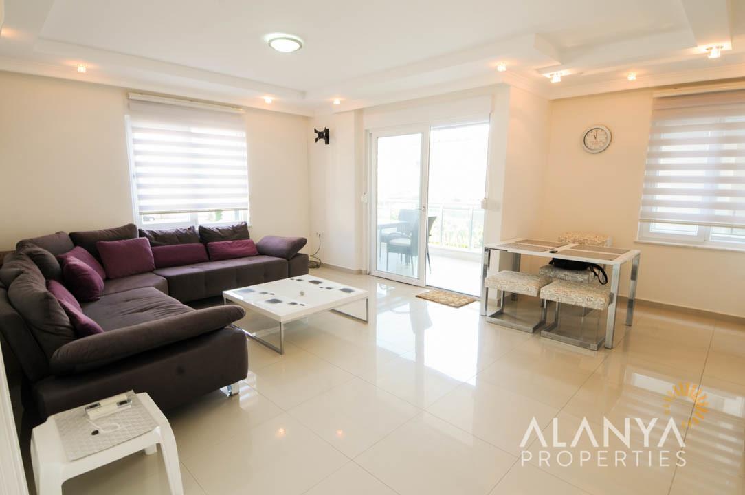 Appartement 1+1 meublé à Alanya, Kestel
