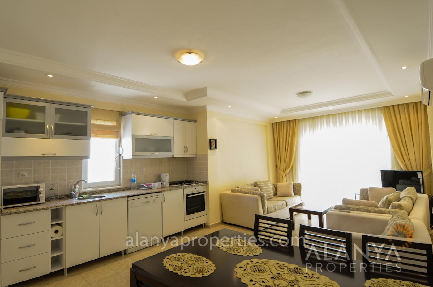 Manquez pas cette offre - Appartement 2+1 complètement meublé à vendre à Tosmur, Alanya