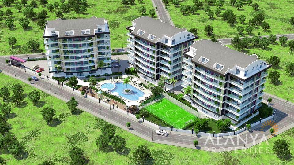 Appartements dans un nouveau complexe à vendre à Alanya, Ciplakli