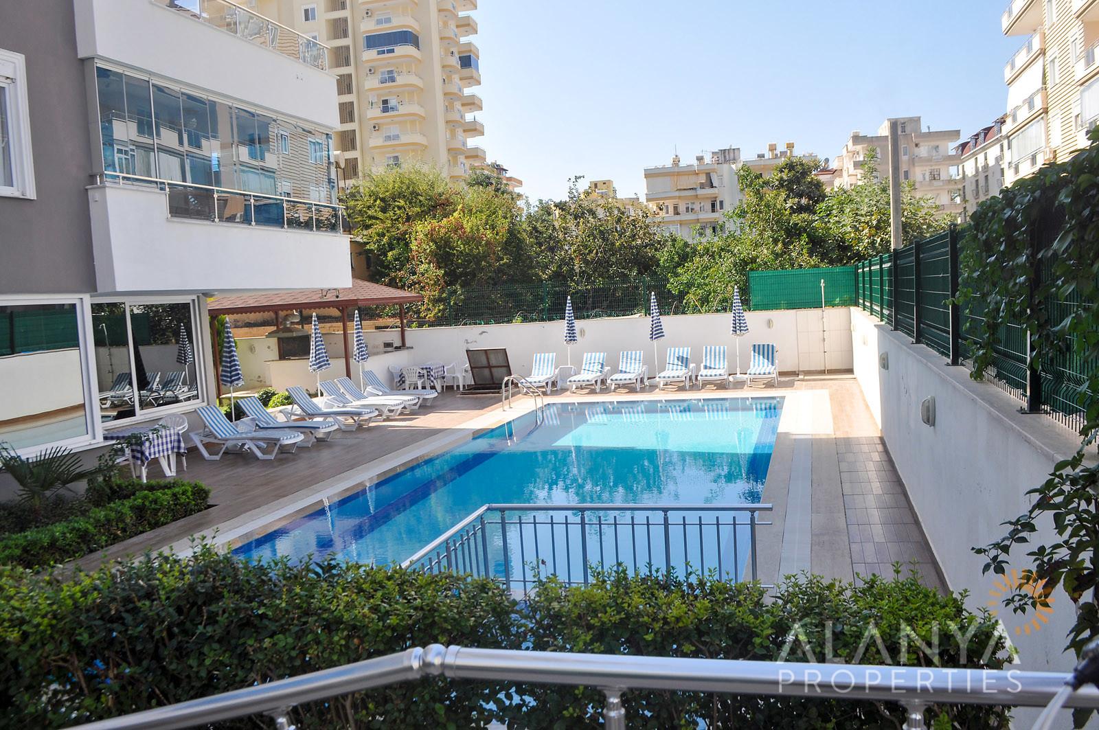 Appartement 1 chambre à coucher à vendre vue sur mer  à Alanya, Mahmuthlar