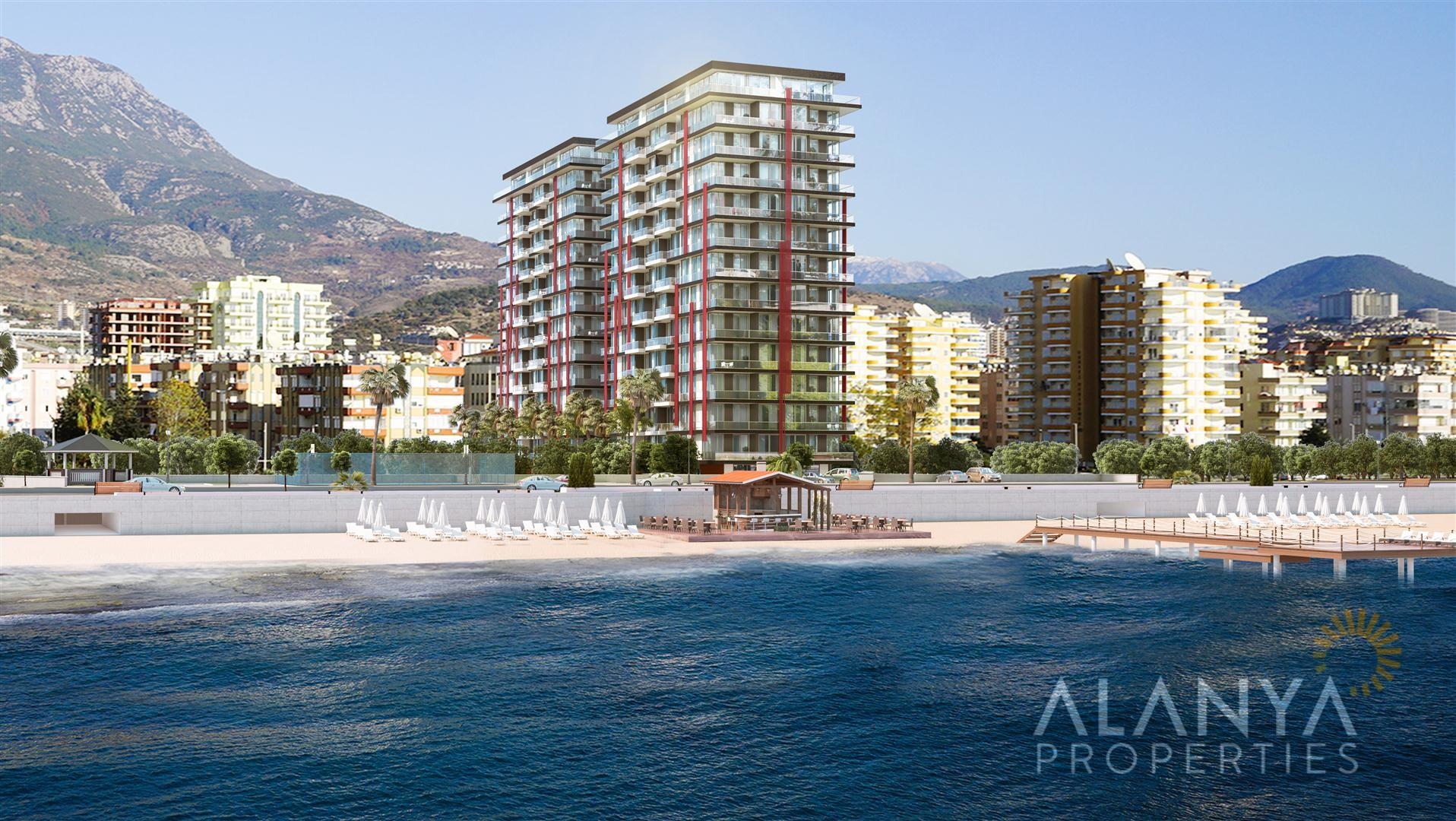 Alanya Mahmutlar'da satılık deniz manzaralı daireler