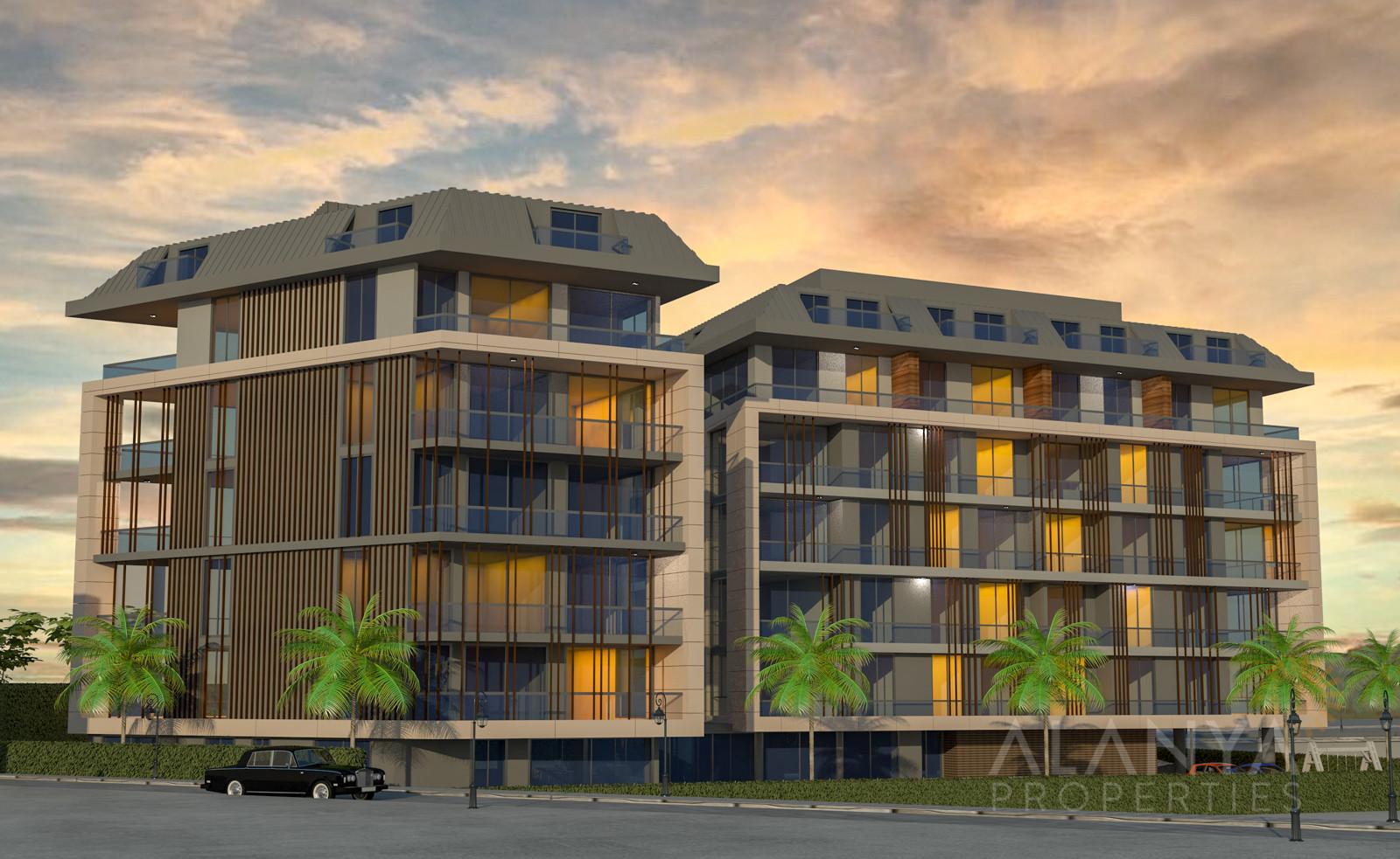 Nieuwe appartementen te koop in het hartje van de stad Alanya