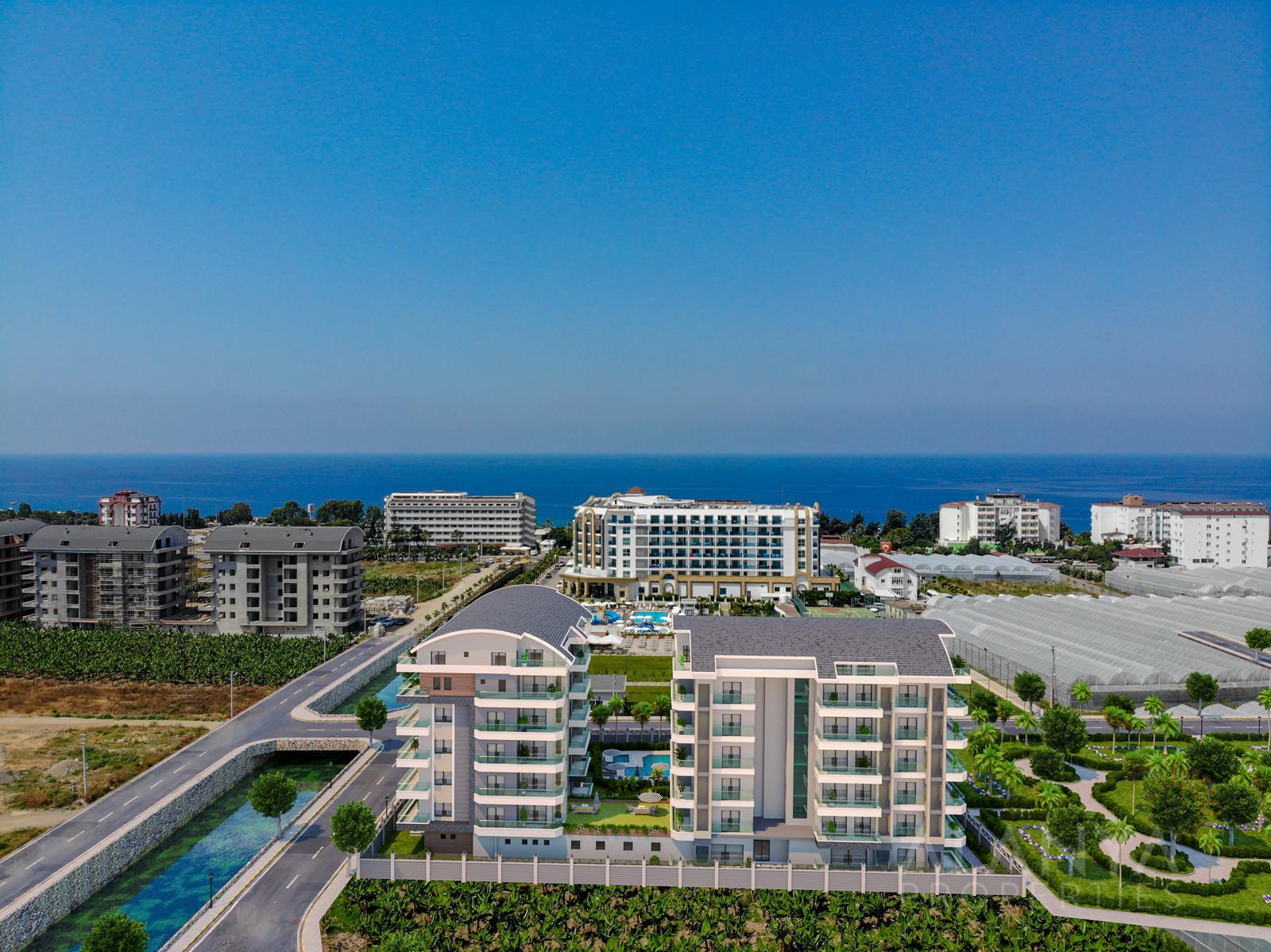 Nieuwe appartementen op goede locatie  aan gunstige prijzen in Kargicak, Alanya
