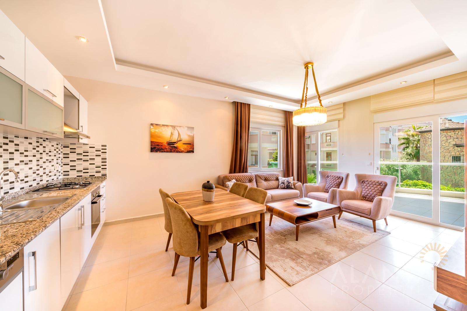 Emerald Towers - appartement meublé - 2 chambres - avec balcon et terrasse à Avsallar, Alanya