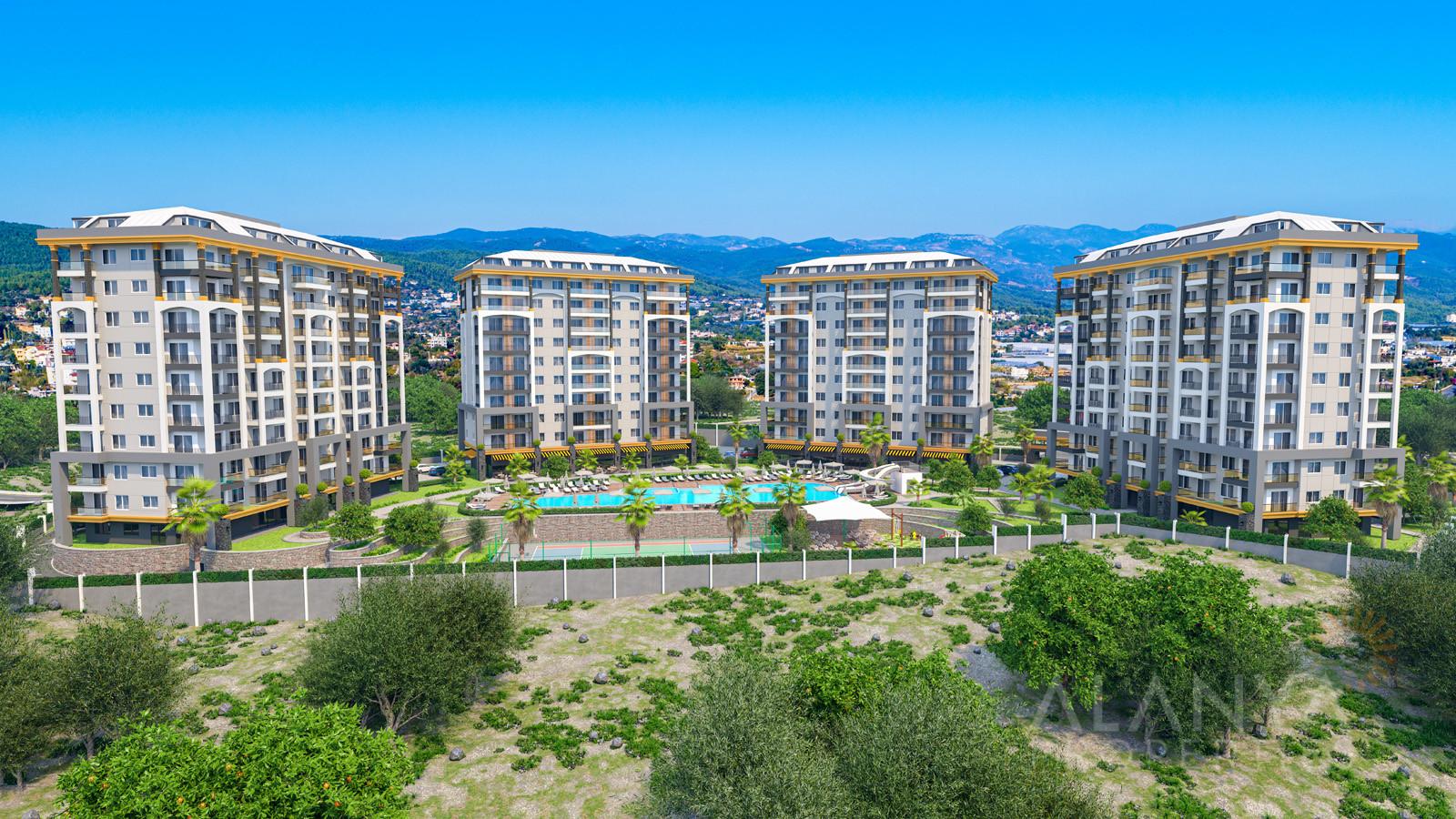 Emerald Paradise Alanya Avsallar'da satılık lüks daireler