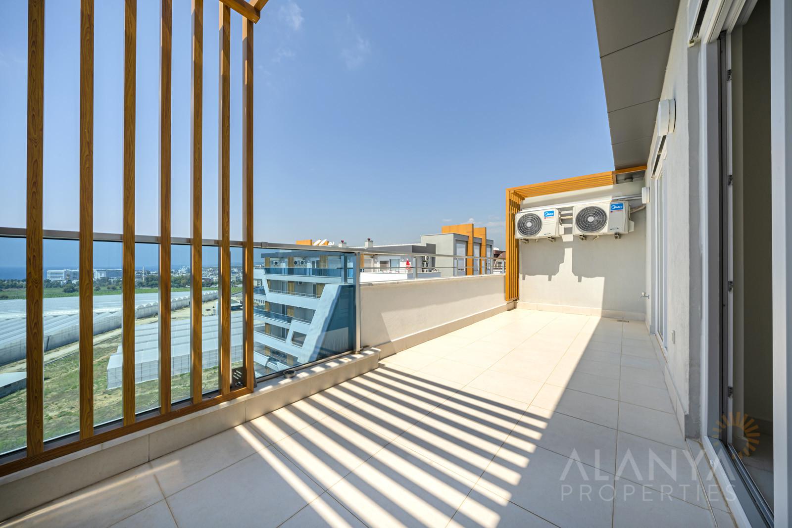 Appartement-penthouse à 2 chambres avec vue unique sur la mer à Avsallar, Alanya