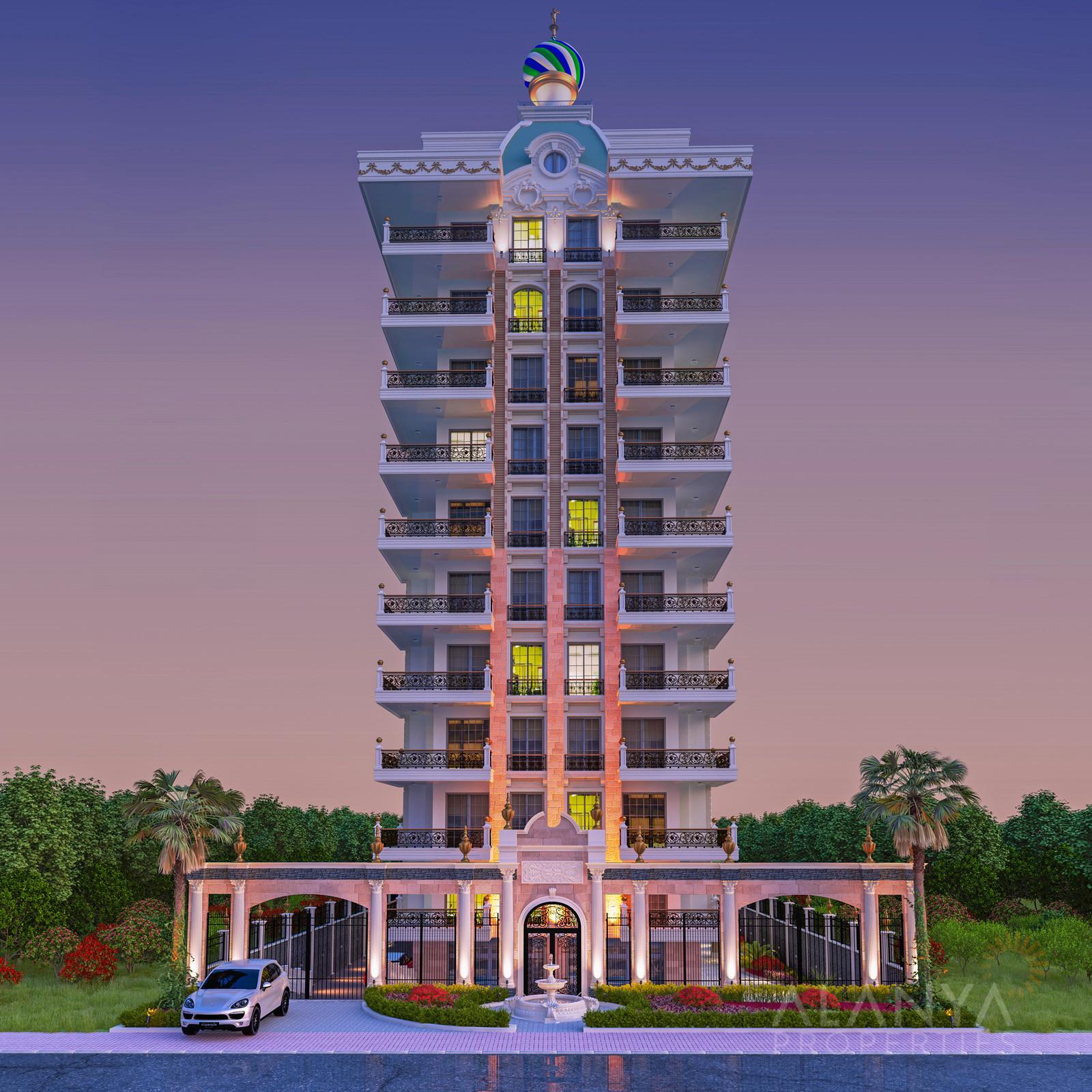 Grote Nieuwe appartementen met Luxe Disign aan zee te koop in Mahmutlar, Alanya
