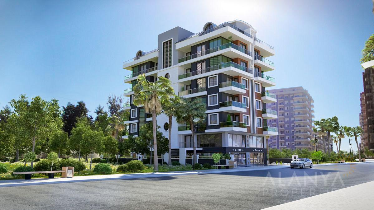 Nieuw complex - 1, 2 slaapkamers, penthouses op een paar stappen van zee in Mahmutlar, Alanya