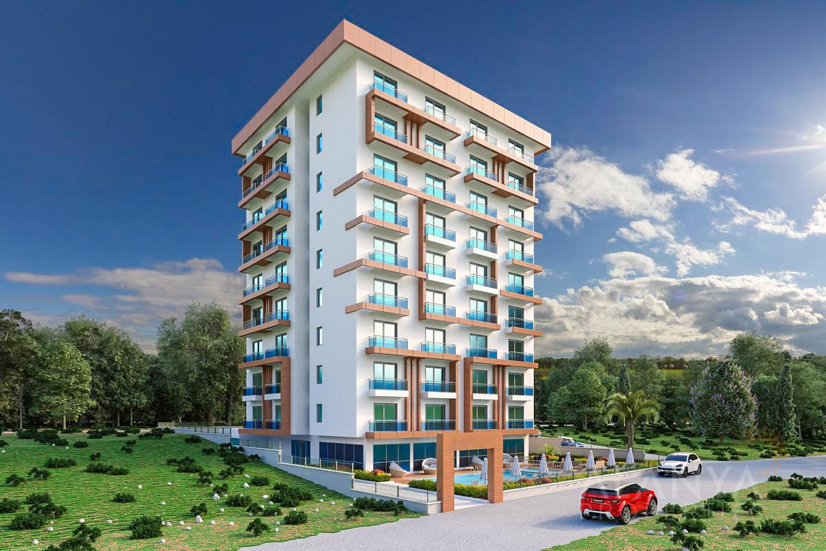 Nieuwe 1 slaapkamer appartementen in Mahmutlar, Alanya