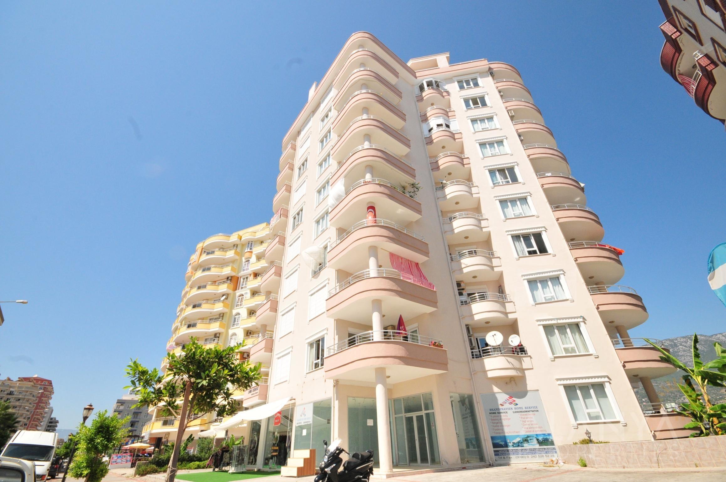 Mooi gemeubeld appartement 2 slaapkamers te koop in Mahmutlar, Alanya