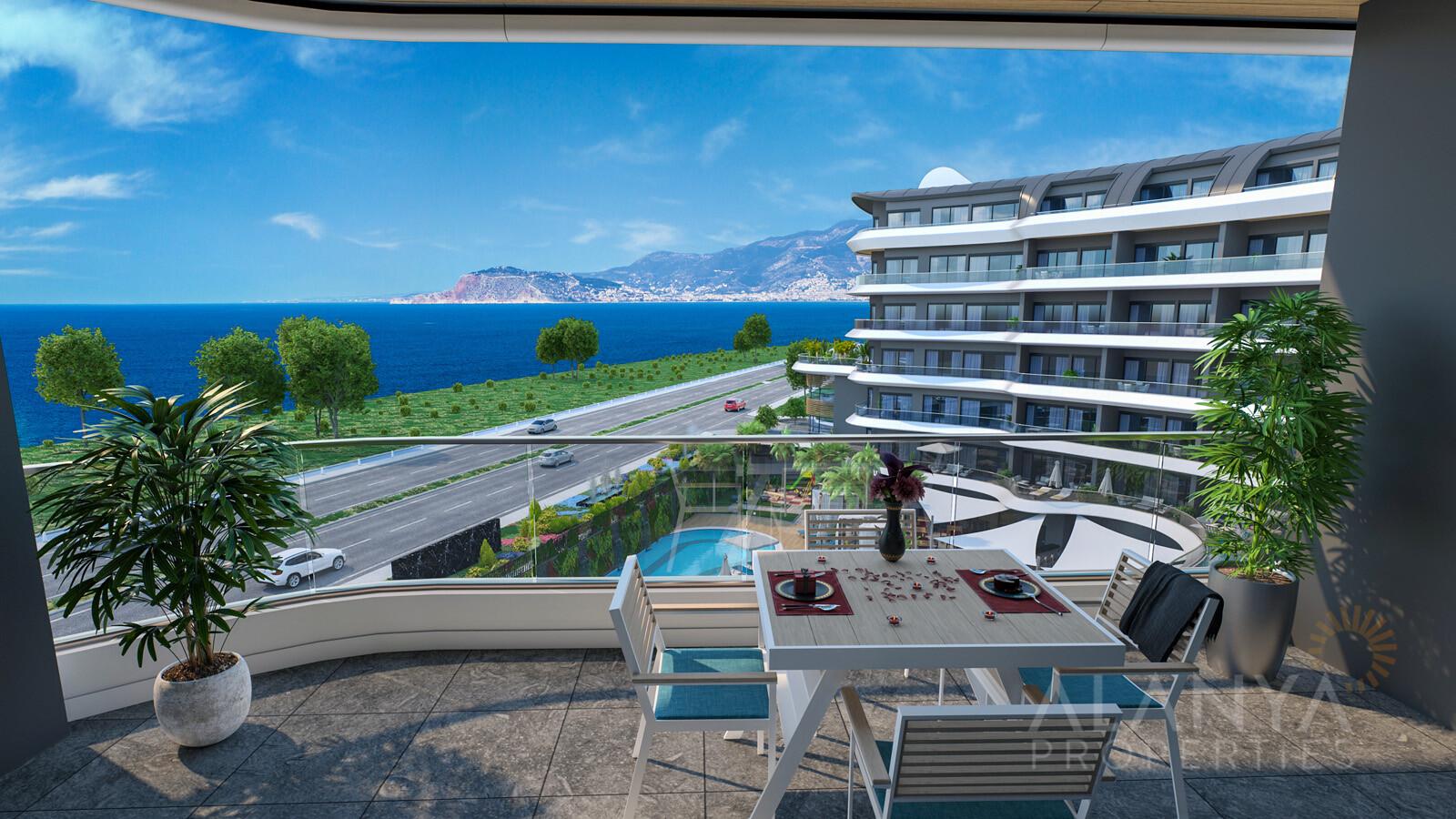 Appartementen in 5* Hotel-Concept Complex met een scala van faciliteiten Kargicak, Alanya
