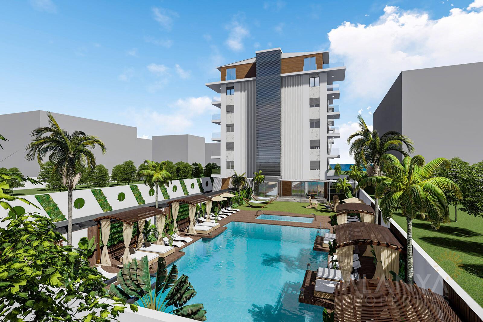 Appartements de Luxe à 100 m de la plage à Kestel, Alanya