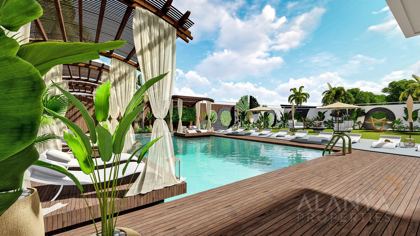 Nouveaux appartements vue mer sur la plage à Kestel, Alanya