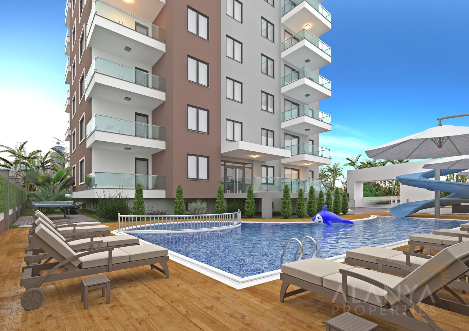 Appartements à 200m de la mer dans le centre de Mahmutlar, Alanya