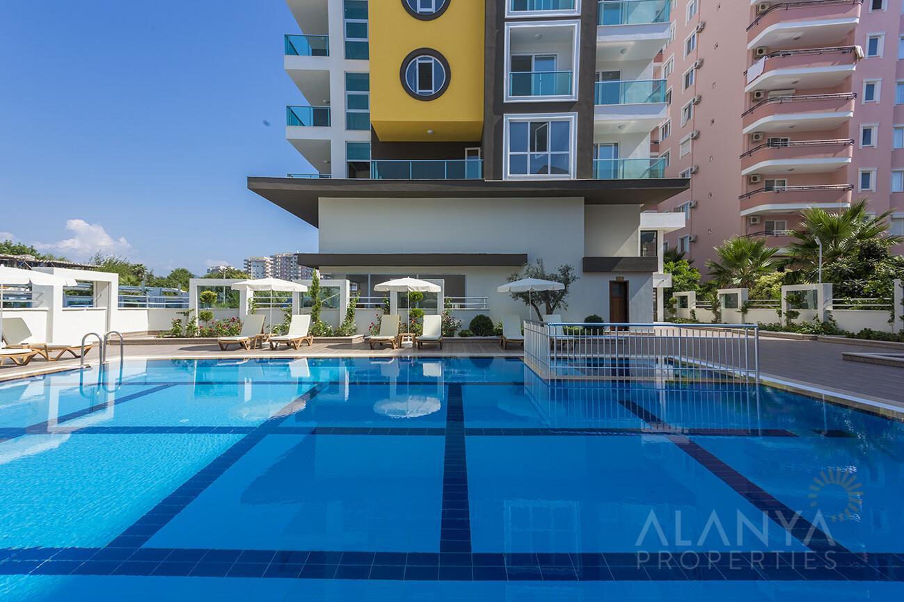 Appartement de luxe meublé 1 chambre à coucher à 250 m de la plage à Mahmutlar, Alanya