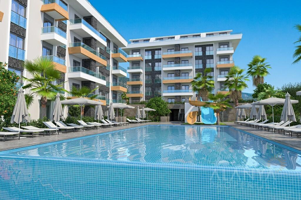 Nieuw Complex met Luxe Appartementen op wandelafstand van zee in Kargicak, Alanya