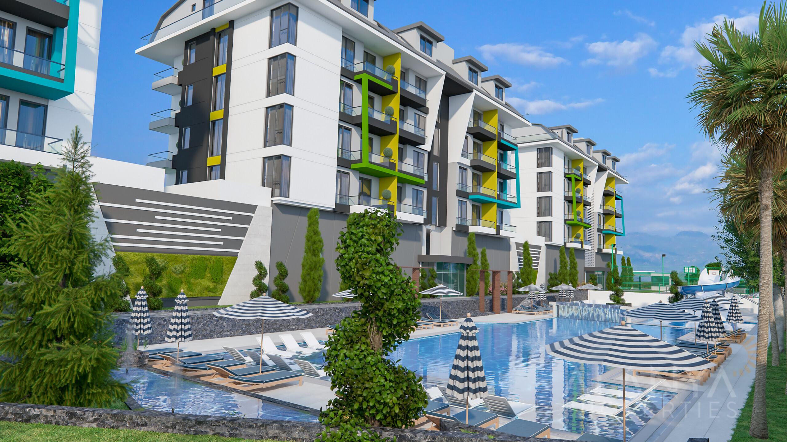 Nouveaux Appartements en Bord de Mer à Kargicak Alanya
