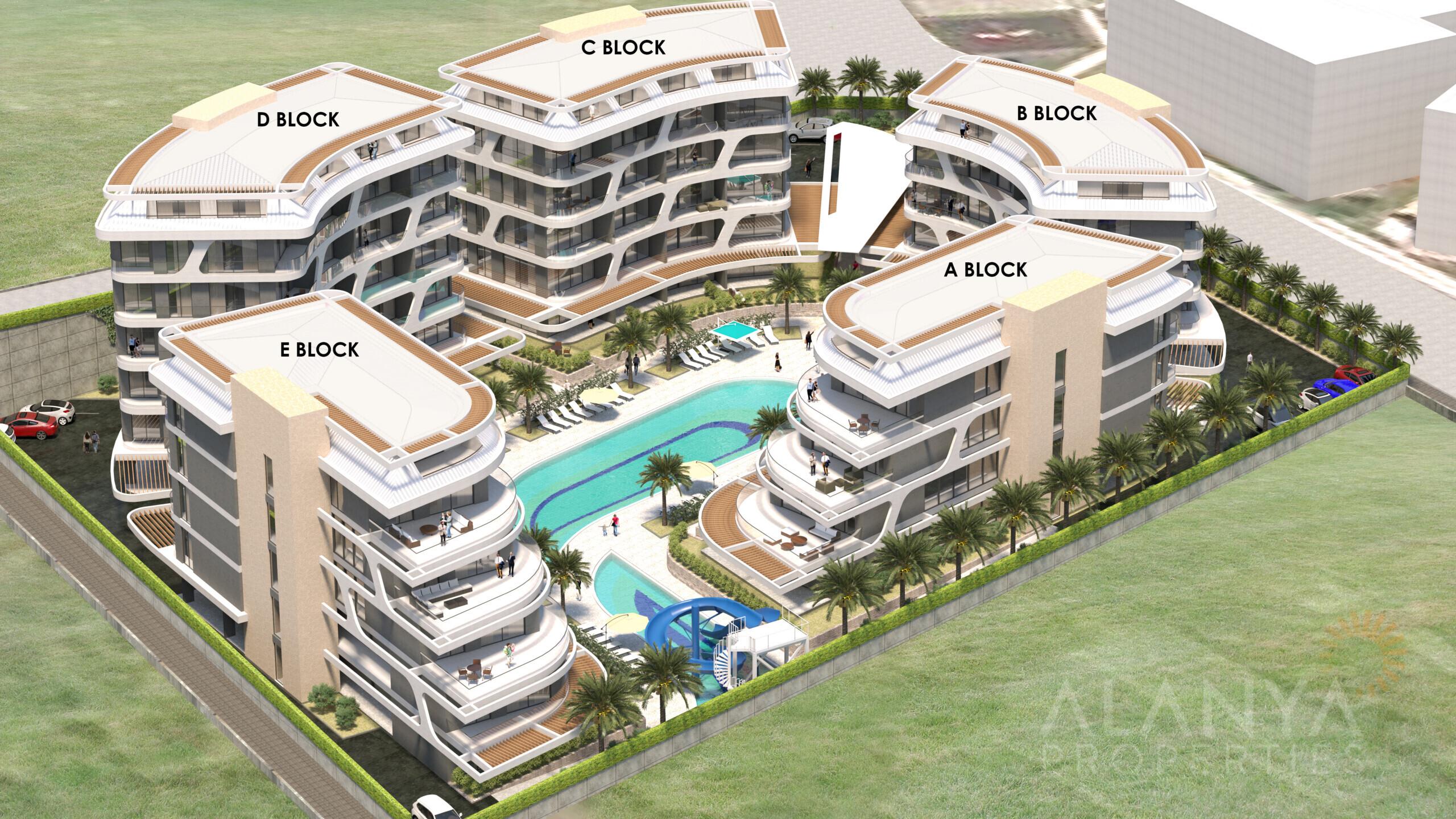 Appartementen in Speciaal Concept in Oba/Alanya