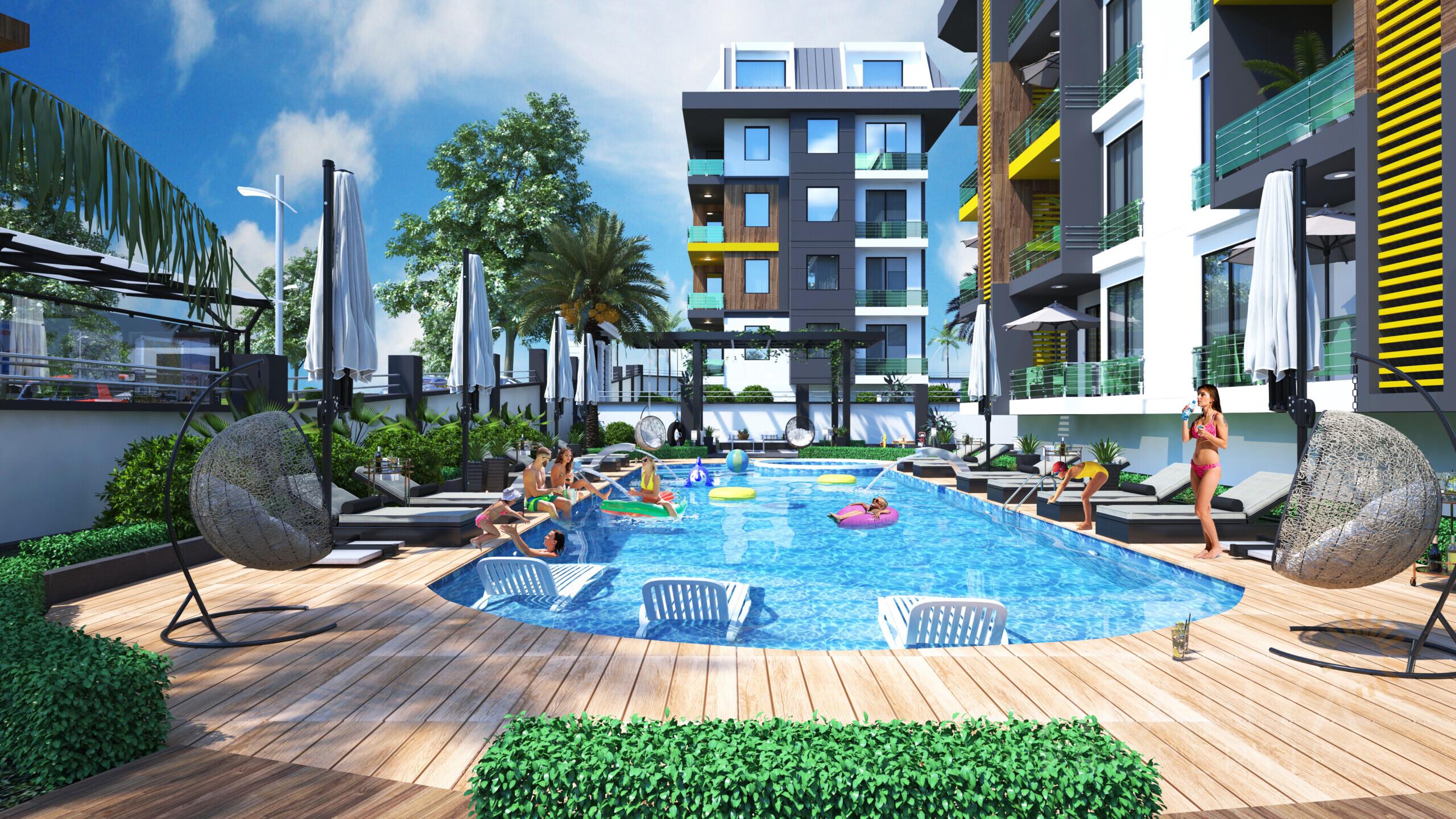 Kestel Alanya'da yeni inşa edilen daireler