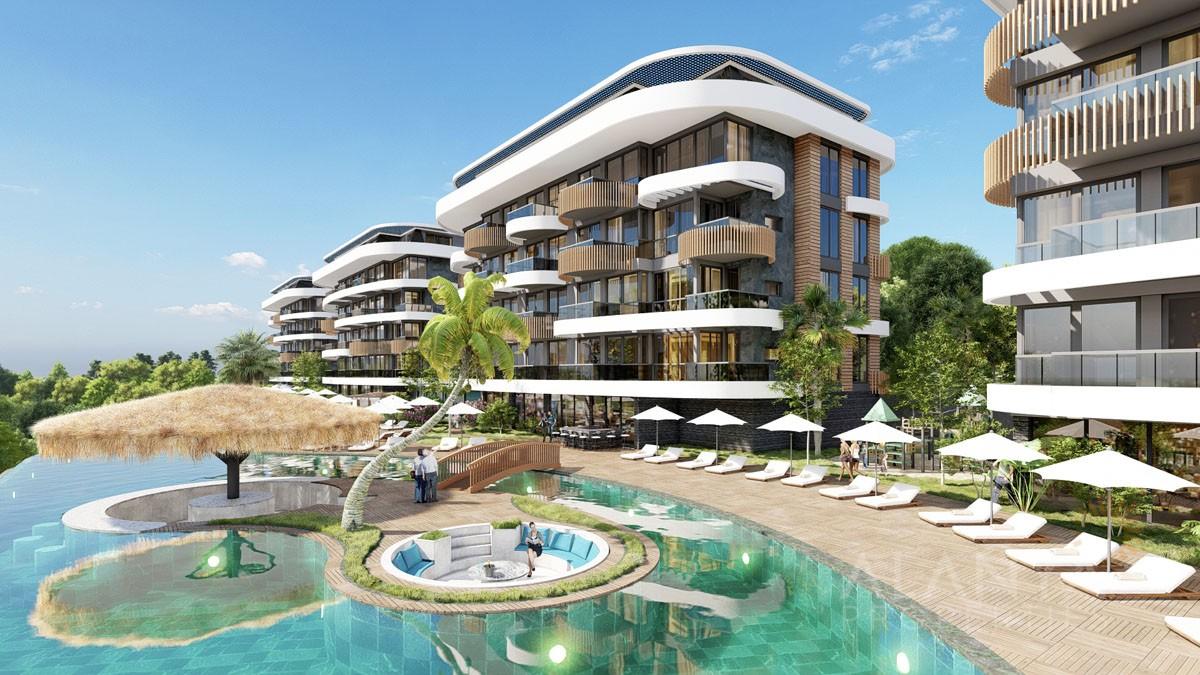Appartements Exclusifs avec Piscine à Débordement à Kestel / Alanya