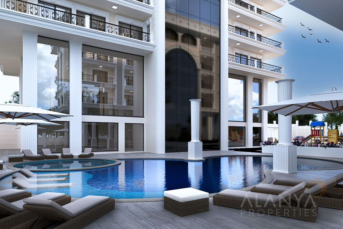 Grands Appartements Proche de la Mer à Alanya Centre-Ville